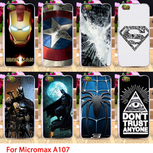 Soft TPU Phone Cases For Micromax Canvas Fire 4 A107 Comic Hero Logos Cell Cover Housings Bags Sheaths Skins Shells Hoods