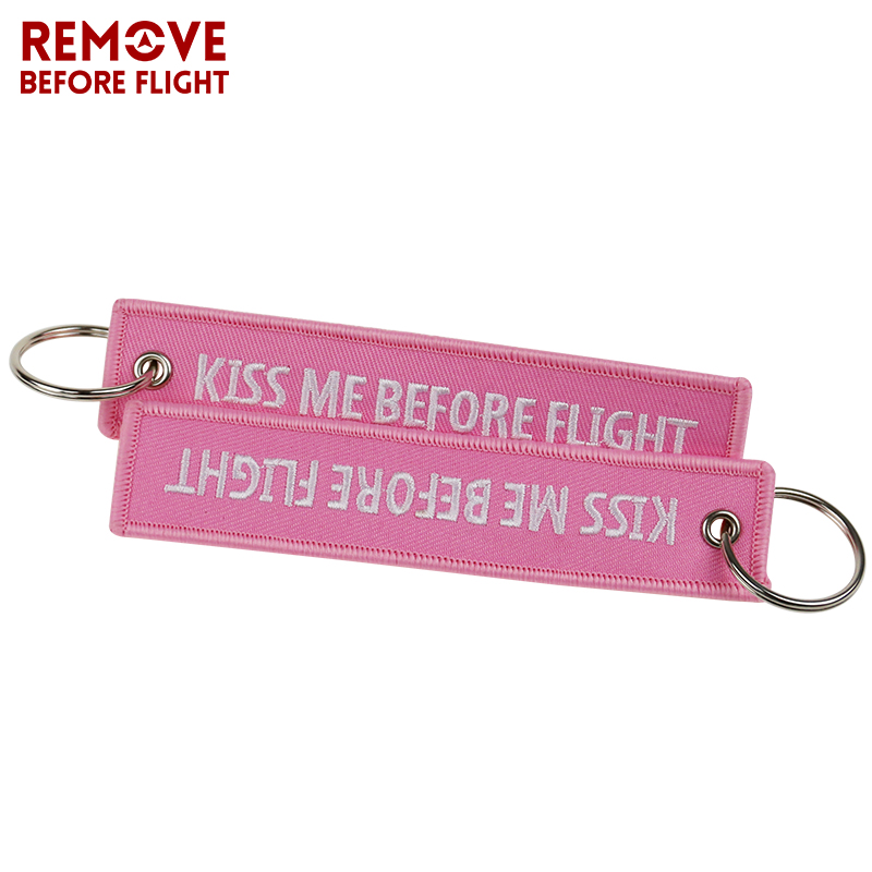 Fashion Keychain Bijoux Kiss Me Before Flight llaveros Keychains Embroidery Key Fobs OEM ATV Car Key Chains for Motorcycle Cars (9)