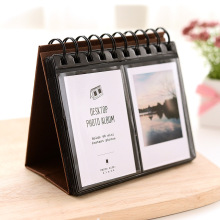 PVC Leather Loose-leaf Holds 68 Pieces 3 Inch Photos Pictures Card Holder Mini Desktop Polaroid Photo Album