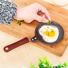 Love Heart & Lovely Rabbit Shape Breakfast Egg Frying Pan Wrought Iron Non-Stick Mini Pan Without Cover Kitchen Cookware(China)