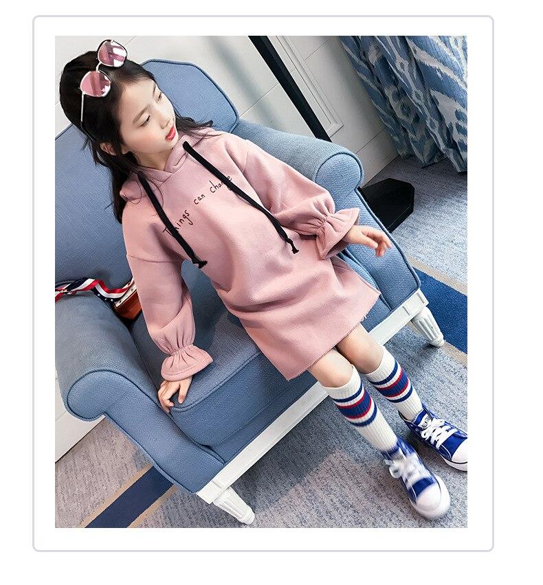 فستان طويل الاكمام للاطفال 8