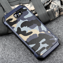 Keysion Phone Case for Samsung Galaxy A3 2017 A320 Army Camo Camouflage Pattern PC+TPU 2 in1 Anti-knock Protective Back Cover