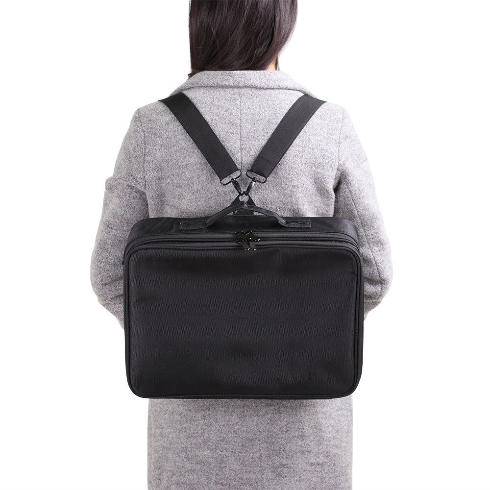 Women Makeup Bag High Quality Professional Organizer Makeup Brush Bag Case Cosmetic Bag Large Capacity Storage Bag Art Tool Box (3)