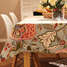 Joyful Table Cloth Gladness Plant Flower Round Rectangle Coffee Dining Decor Cover Cotton Canvas Print Tablecloth