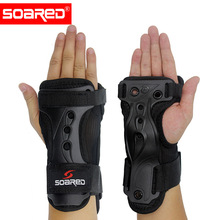 Skiing Wrist Hand Brace Support Adjustable EVA Pads Hand Guards Palm Support Sprain Wristbands 1 P