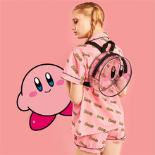 Kirby Super Star round Transparent Backpack kawaii bag girls woman style