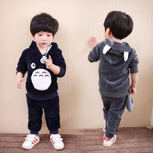 Spring Kids pajamas Suit Girls Clothing Sport Sets Cotton Children Christmas Boy Clothes Kids Velvet Newborn Baby Girls Clothing