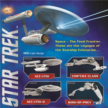 2016 Hot sale Star Trek 3D Metal Puzzles Assemble DIY Starship Enterprises 1701 /Bird Of Prey/ Kerrigan No. Model Toys Gift