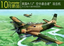 Free shipping    NEW  02254 A-1J AD-7 Skyraider   Assembly Model kits  Modle building Trumpeter