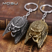 MOSU Hot movie Alien v Predator Keychain Alloy Alien Mask Metal Key Rings For Women&Men Chaveiro can Drop-shipping