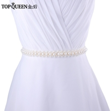 Buy TOPQUEEN S184 New Arrival Hot Sale Luxury Pearls sashes Free Stock Bridal belts Wedding Accessories belts women belts for $11.99 in AliExpress store