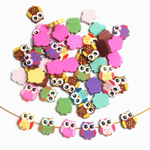 2016 Wooden Beads 50pcs Owl Styles Lovely Spacer Beading Wood Beads Toys For Baby DIY Crafts Kids Toys & Pacifier Clip
