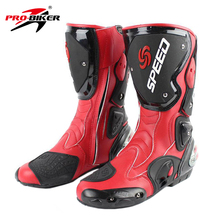 PRO-BIKER Motorcycle Boots Racing Riding Boots Breathable Motocross Off-Road Mid-Calf Boots Motorbike Touring Shoes(China)