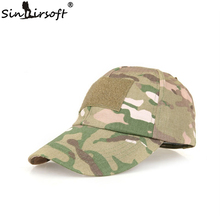With a gift patch hat Summer camping man's Camouflage Tactical hat army Fishing bionic Baseball cadet Military cap Free shipping