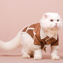 Cool Handsome Cat Jacket Autumn Winter Clothes To Keep Warm The Cat Costume Garfield's Fall Jacket Cat Kitty Pet Clothing()