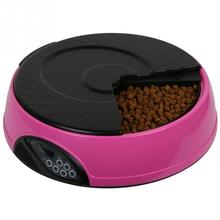 6 Meal Timed Automatic Pet Feeder Auto Dog Cat Food Bowl Dispenser Programmable(China)