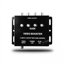 1 to 4 Channel Video Signal Booster Splitter Amplifier with Gain Control RCA