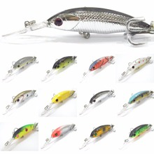 wLure Fishing Lure Minnow Crankbait Tight Wobble Slow Floating Medium Diver 3.5g 7.6cm 8# Treble Hooks Tiny Hard Bait M514
