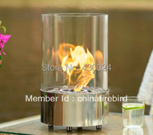 ethanol fireplace FD40 + stainless steel + table top model(China)