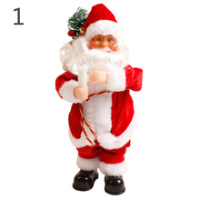 Christmas electric Santa Claus toys with music Fashion Home Christmas Decoration Amazing Gift @LS(China)