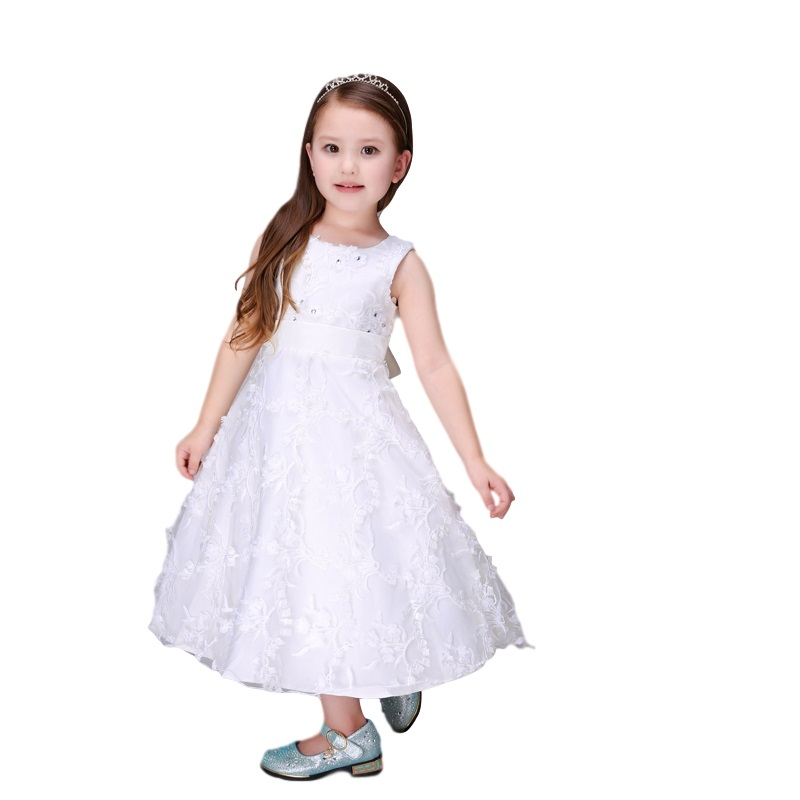 Fashion Girls Dresses Summer 2017 Gown Bridesmaid Child Baby Girls Wedding Dress Maxi Dresses For Kids For Girls Age 2-5 6 7 8 9<br><br>Aliexpress