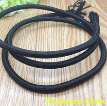 Free shipping 5mm thick 10 meters Black color DIY handmade materials round elastic rope rubber band diameter 5mm