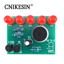 CNIKESIN DIY Electronic Sound Control Level Indicator Lamp Suite LED Light Electronic Diy Kit Accessories Circuit Training Parts(China)