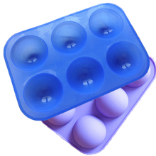 High Quality Cake Tools Dia Half Ball Sphere Cake Silicone Mould Muffin Pastry Jello Dessert Mold Bakeware 5cm(China)