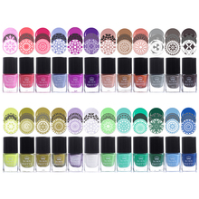 BORN PRETTY 6ml Nail Stamping Polish Colorful Lacquer Plate Printing Vanish 24 Colors Manicure Stamping Oil(China)