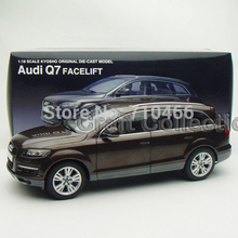 Brown Car Model 1:18 Kyosho Audi Q7 2009 SUV Diecast Model Car Off Road Vehicle Cross Country Jeep