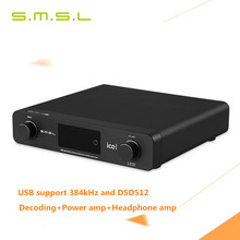 Buy 2016 SMSL A6 AK4452 50Wx2 HIFI Audio DSD512 Digital Decoder Amplifier OPTIC/Coaxial/XMOS/USB DAC 384KHZ/32Bit Aluminum Enclosure for $449.99 in AliExpress store