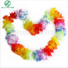 10pcs/lot Hawaiian leis Party Supplies Garland Necklace Colorful Fancy Dress Party Hawaii Beach Fun(China)