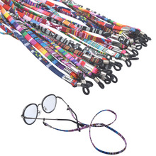 Retro eyeglass sunglasses cotton neck string cord retainer strap eyewear lanyard holder with good silicone loop 4colors option