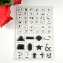 Coolhoo 1pc TPR silicon clear Stamp Letters font sign DIY Scrapbooking/Card Making/ Decoration Supplies(China)