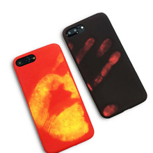 New Hand Thermal Sensor Case For iphone 7 6 6S Plus Fundas Funny Physical thermal discoloration Phone Cases Soft Silicone Cover(China)