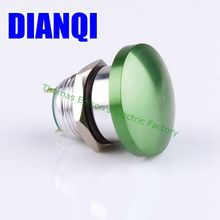 16mm Metal Waterproof Alloy Push Button Switch mushroom Momentary 1NO Button press button worldwide 16MG/HJ,F.K-GR