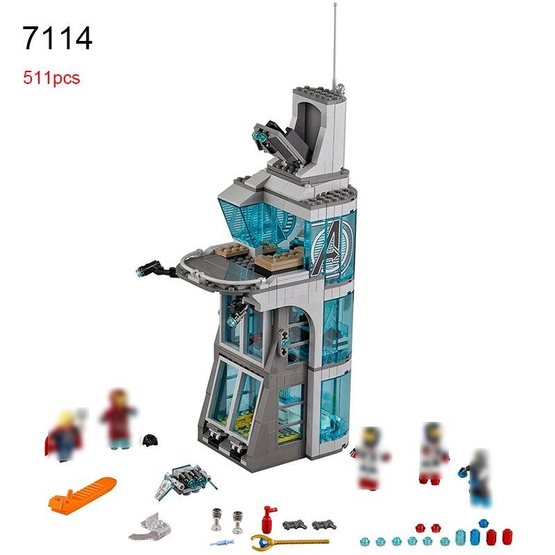 511pcs Marvel Superheroes Iron Man Base Attack On Avengers Tower Model Building Blocks Bricks Toys For Children<br>