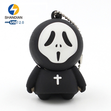 Shandian Silicone Halloween Cartoon Originality Pen USB Flash Drive 64gb 32gb 16gb 8gb Pendrive Memory Stick Storage Device