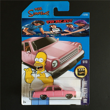 2017 Hot Wheels Simpsons Family Pink Wheels Models Metal Diecast Car Collection Kids Toys Vehicle For Children Juguetes(China)