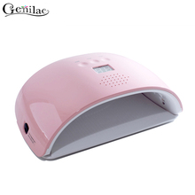 Genilac 48W sun Red Light LED UV lamp Nail Gel lamp 22 LEDs Whitening skin Nail dryer for All Gels Curing Nail Gel Art Tools(China)