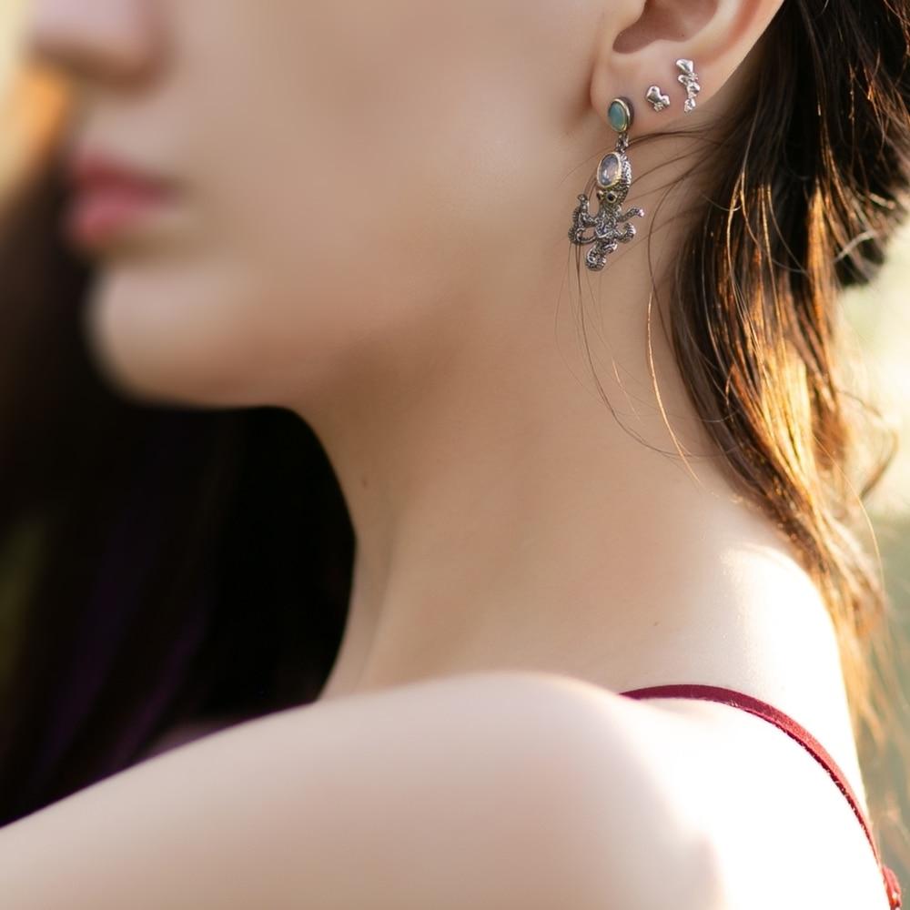 WE3875 octopus earrings women vintage gothic jewelry (5)