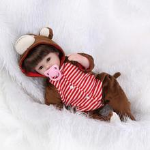 Life Like Real Reborn Babies Doll 16 inch Lovely China Monkeys Clothes Realistic Simulation Baby Soft Body Silicone Girls Gift