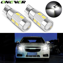 2pcs T10 W5W Canbus No Error 10 SMD 5630 LED Light Wedge Bulb High Power LED Car Parking Fog Light Auto Clearance Light 12V(China)