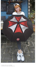 Cartoon Comic Umbrella Folding Sun and Rain Umbrella Resident Evil Windproof Black RainUmbrella UV Parasol(China)