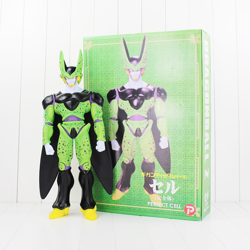 48cm Perfect Cell Figure Toy Dragon Ball Z Super Big Cell Complete Body Anime DBZ Model Doll<br>