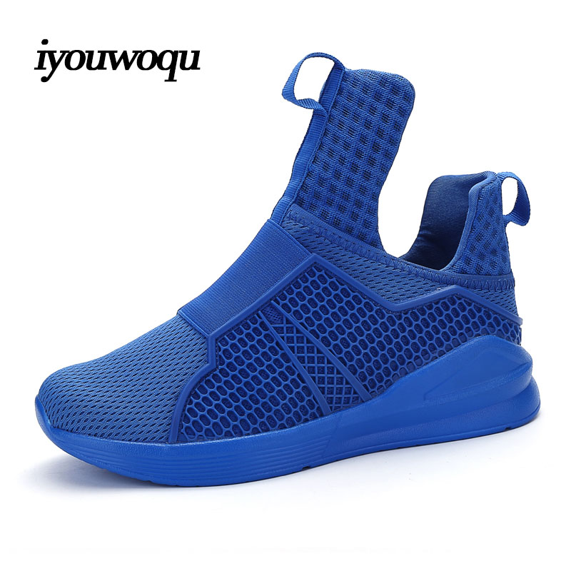 Top Quality Brands Men Sneakers Shoes 2017 New Arrivals Solid Breathable Mesh Outdoor Sports Running Shoes for Men Red White<br><br>Aliexpress