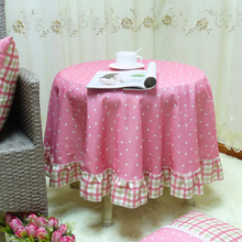 Customized! European Pastoral Circular Table Cloth Pink Jacquard Lace Cotton Dinning Tablecloths Chair Covers Free shipping