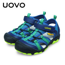Uovo Brand New Kids Summer Soft Sandals Size25-34 Toddler Baby Footwear Beach Sports Sandalias Shoes Boys Closed Toe Sandals(China)