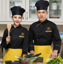 black senior chef uniform cake cook clothing cake chef clothes black cook tops autumn