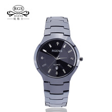 men real ceramics watch Original business black white male clocks casual waterproof luxury diamond wristwatches number 5503(China)